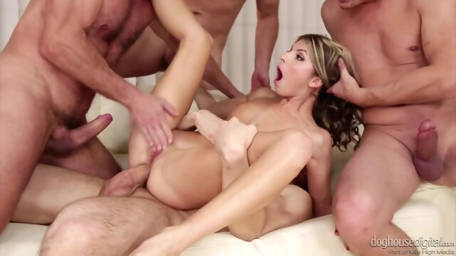 4 On 1 Gang Bangs 7 - Timea Bella, Tina.. anal blonde cumshot
