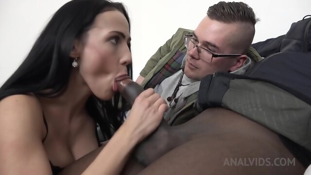 Kinky black cuckold sex with Nicole Love K anal big cock big tits