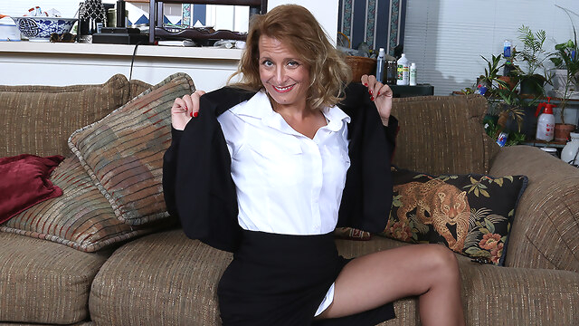 Naughty American Secretary Playing With.. dutch european lingerie