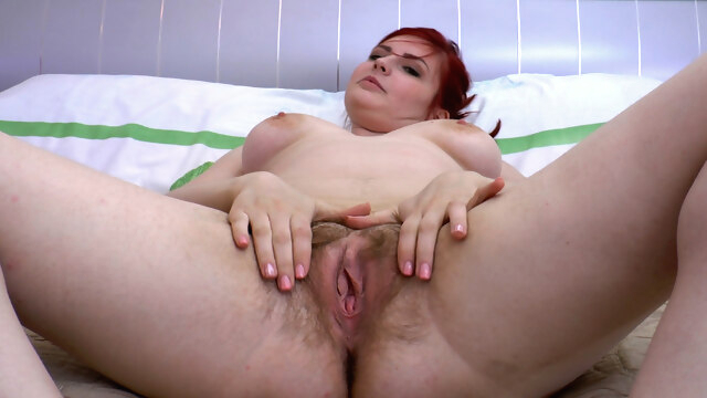Red Bunny strips and masturbates on her.. amateur bbw compilation