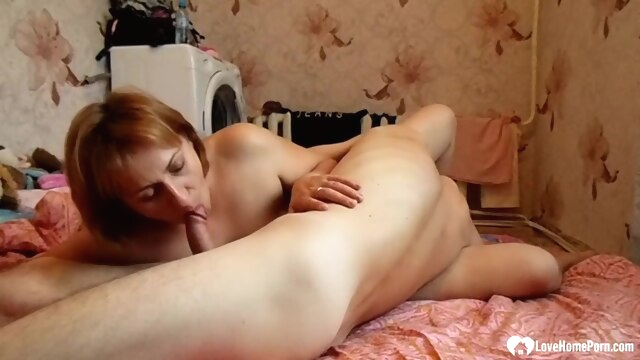 Mom and son help each other out amateur brunette milf
