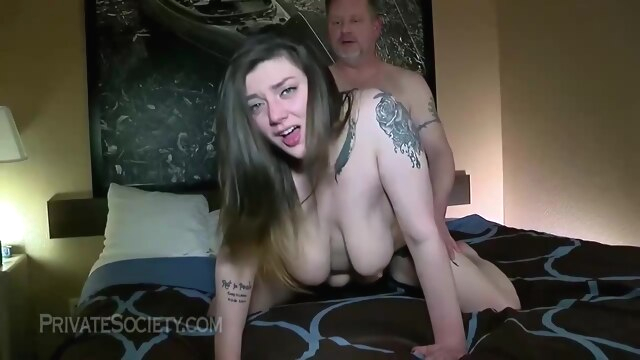 Chubby chick is about to get fucked in.. amateur anal brunette