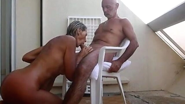 Mature couple fucks on the terrace blonde mature french