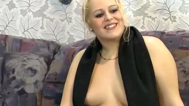 Chubby German blonde fucked hard on a.. blonde blowjob bbw
