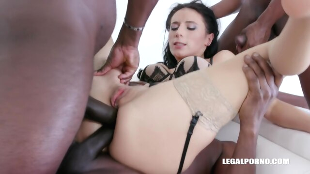 Pretty, black haired babe, Nelly Kent.. anal big cock brunette