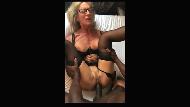 French hotwife gets fucked good by BBC amateur mature interracial
