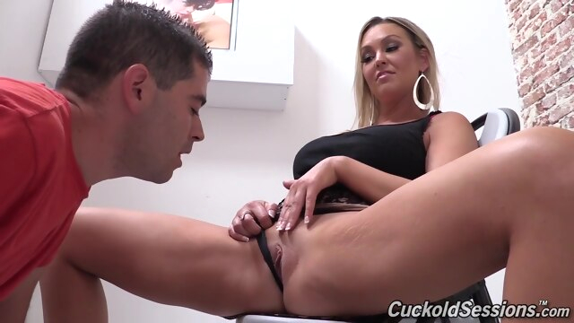 Incredible xxx scene MILF try to watch.. big tits blonde cuckold