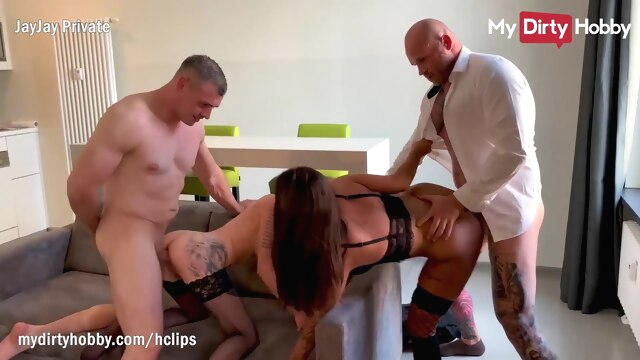 MyDirtyHobby - Wives caught kissing each.. amateur big cock big tits