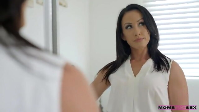 Stepmom takes the team anal brunette milf