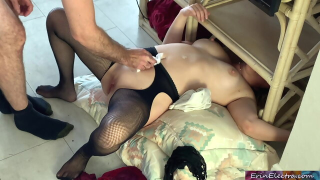 Stepmom gets stuck and has sex with her.. amateur funny big boobs