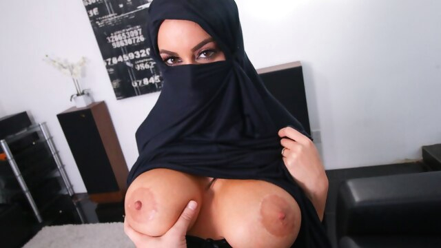 Busty Muslim MILF Cheats On Husband With.. blowjob big boobs interracial