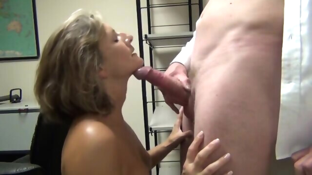 MILF sucking lovers big dick and swallow.. amateur big cock blonde